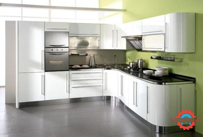Gia công tủ bếp inox chất lượng cao kiểu dáng đẹp tại TPHCM
