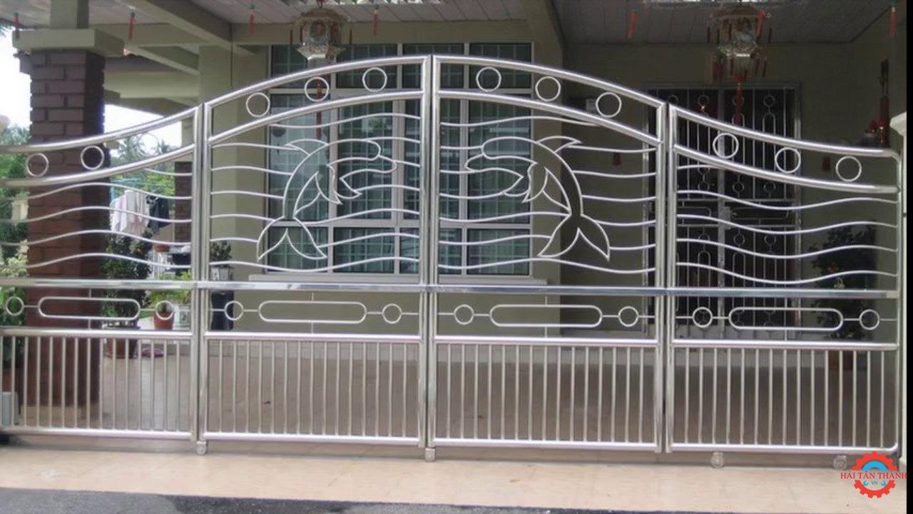 Báo giá gia công cổng inox chất lượng cao bền đẹp uy tín tại Hải Tân Thành